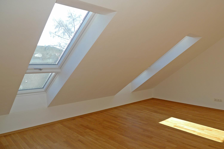 Reihenhausausbau München Moosach Reihenhaus Wohnhaus Dachgeschoss Dachfenster