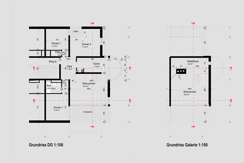 Wohnung Nymphenburg Eingabeplan Grundriss