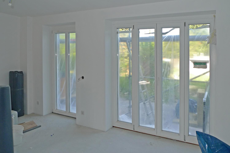 Reihenhaus Kleinhadern Wohnhaus Baustelle Fenster Garten