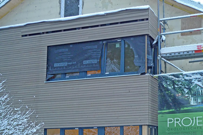 Wohnhaus Planegg Anbau Holz Baustelle Fenster