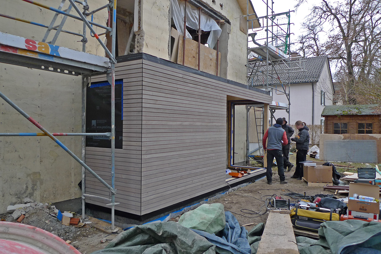 Wohnhaus Planegg Anbau Holz Rohbau