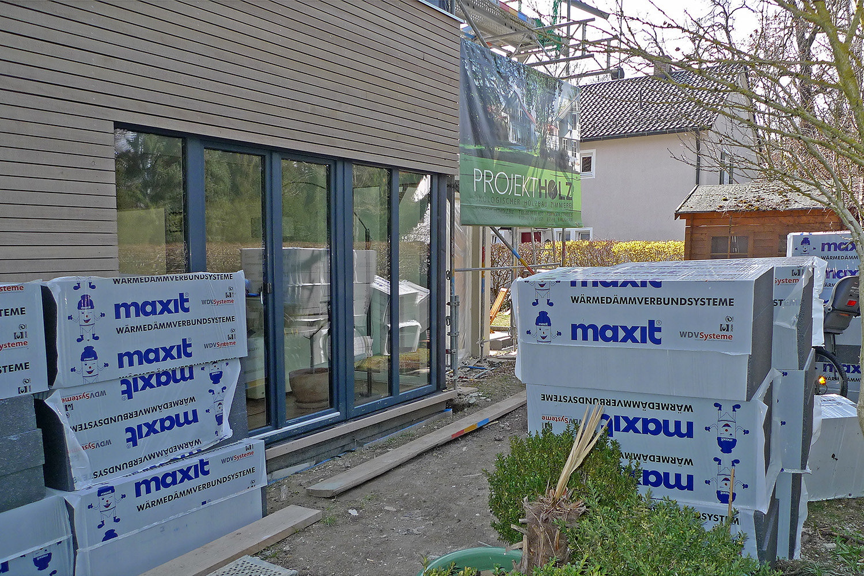 Wohnhaus Planegg Anbau Baustelle Holzbau