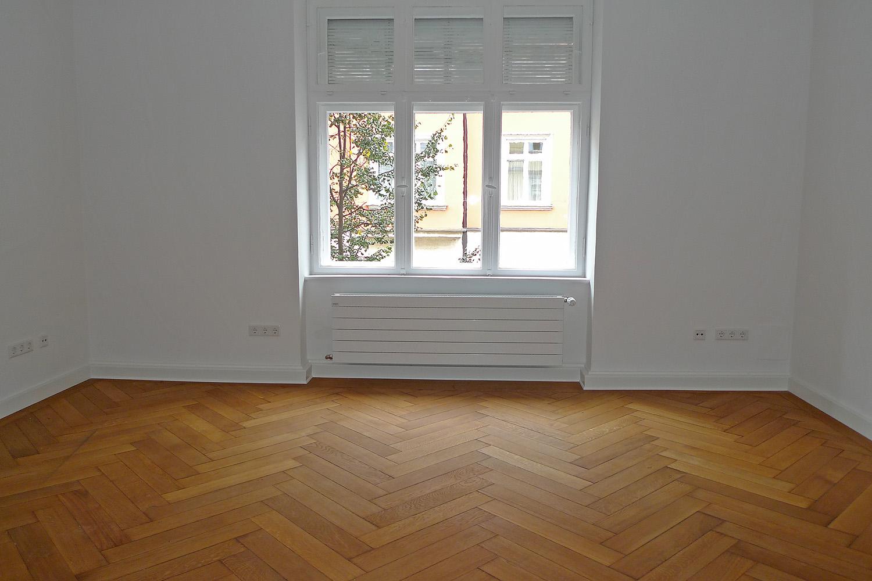 Wohnung München-Lehel München Umbau Parkett Fischgrät Zimmer