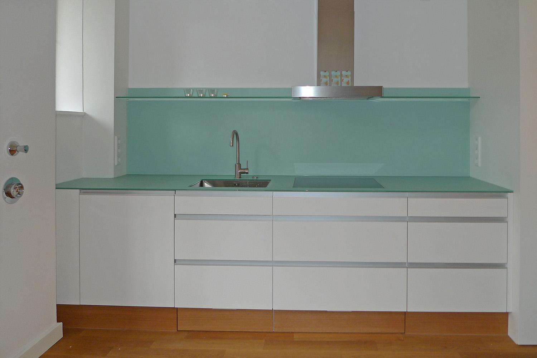 Wohnung München-Lehel Umbau Küche Glas