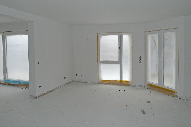 Wohnung Pasing Ausbau Umbau Baustelle Wohnzimmer