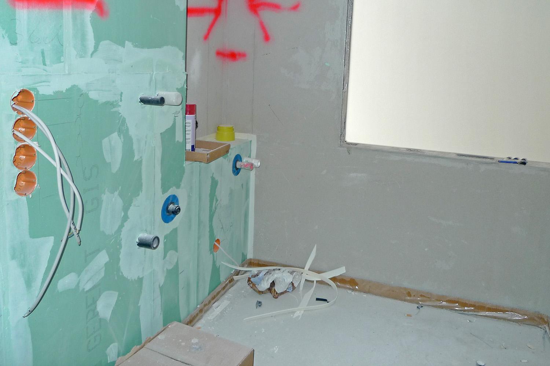 Wohnung Pasing Ausbau Umbau Baustelle Bad