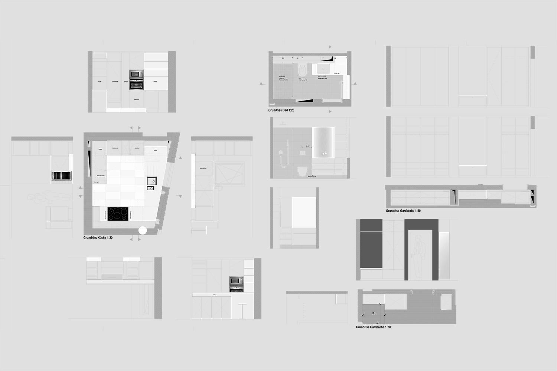 Wohnung Pasing Detailplanung Küche Garderobe Bad