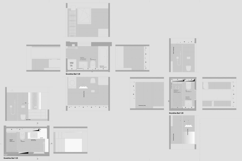 Wohnung Pasing Detailplanung Grundriss Ansicht Schnitt