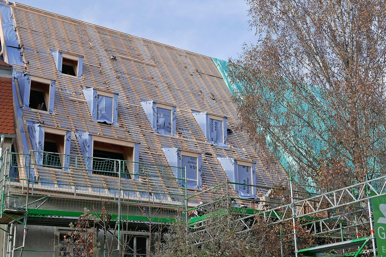 Sanierung Augsburg Dachgauben Dachlatten