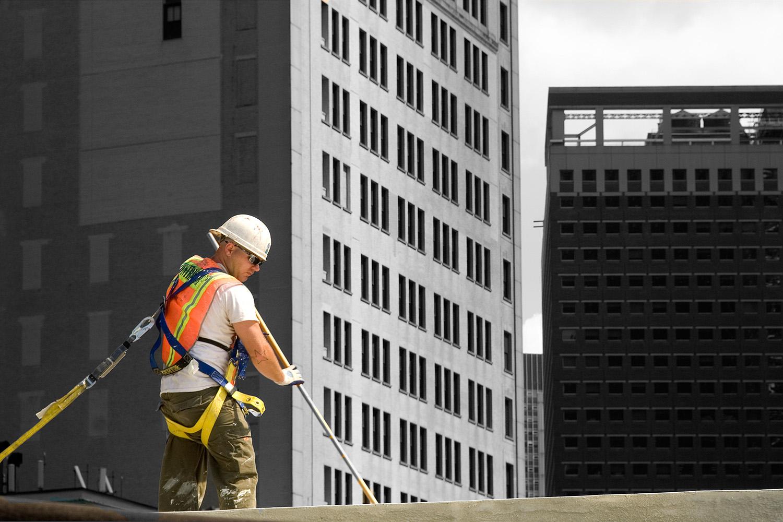 Fotografie New York Maler Dach